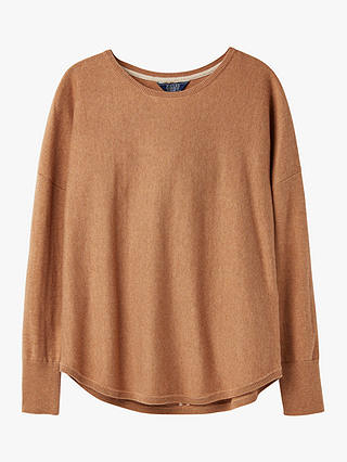 Buy Joules Poppy Cotton Round Neck Jumper, Tan, 16 Online at johnlewis.com