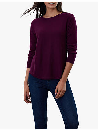 Buy Joules Poppy Cotton Round Neck Jumper, Purple, 8 Online at johnlewis.com