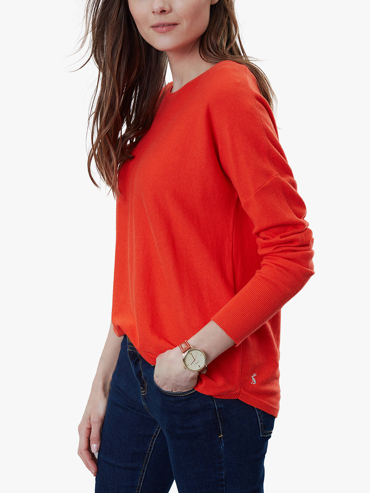 Buy Joules Poppy Cotton Round Neck Jumper, Orange, 6 Online at johnlewis.com