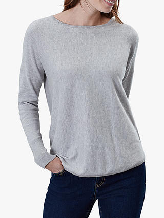 Buy Joules Poppy Cotton Round Neck Jumper, Grey Marl, 16 Online at johnlewis.com
