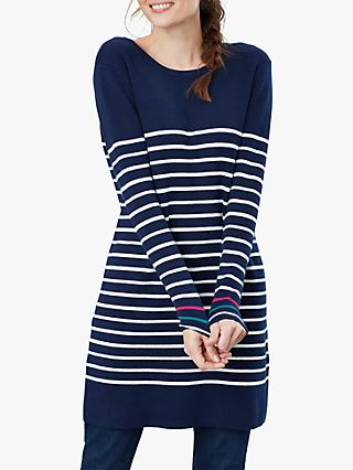 Joules Estelle Knitted Long Sleeve Stripe Tunic Top
