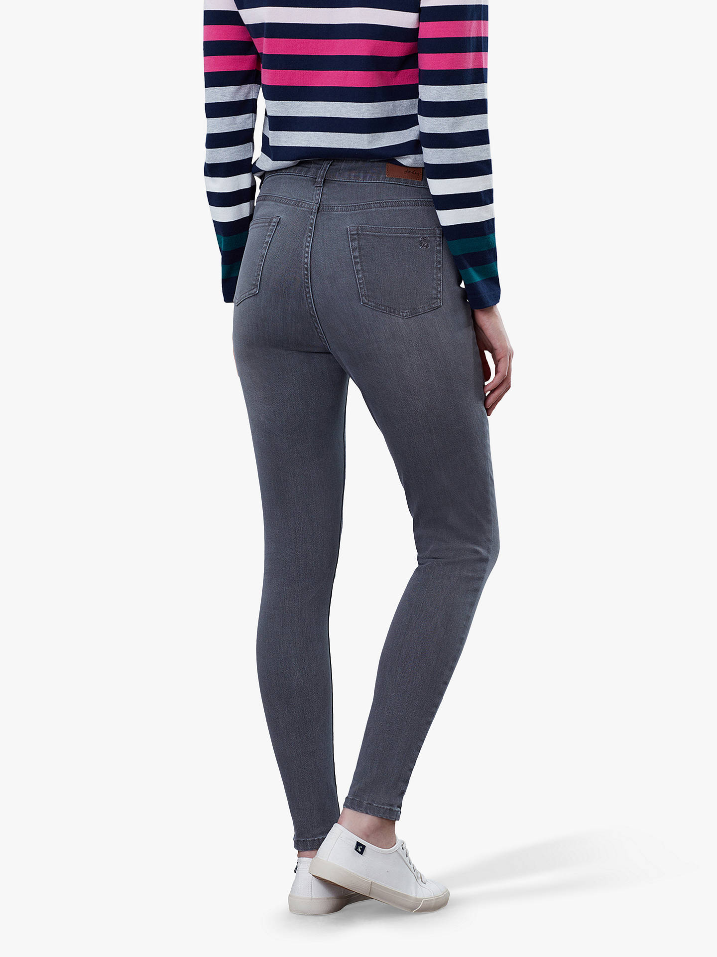 Buy Joules Monroe Skinny Stretch Jeans, Mid Grey Wash, 18 Online at johnlewis.com