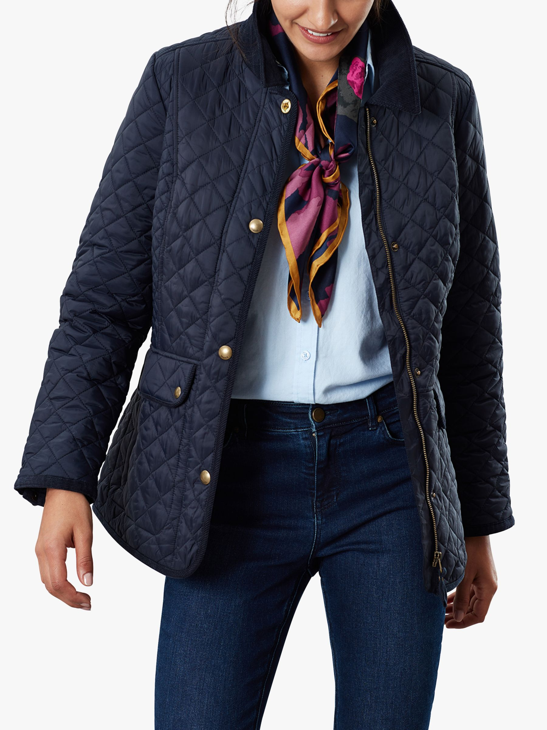 Joules Joules Newdale Quilted Coat, Marine Navy