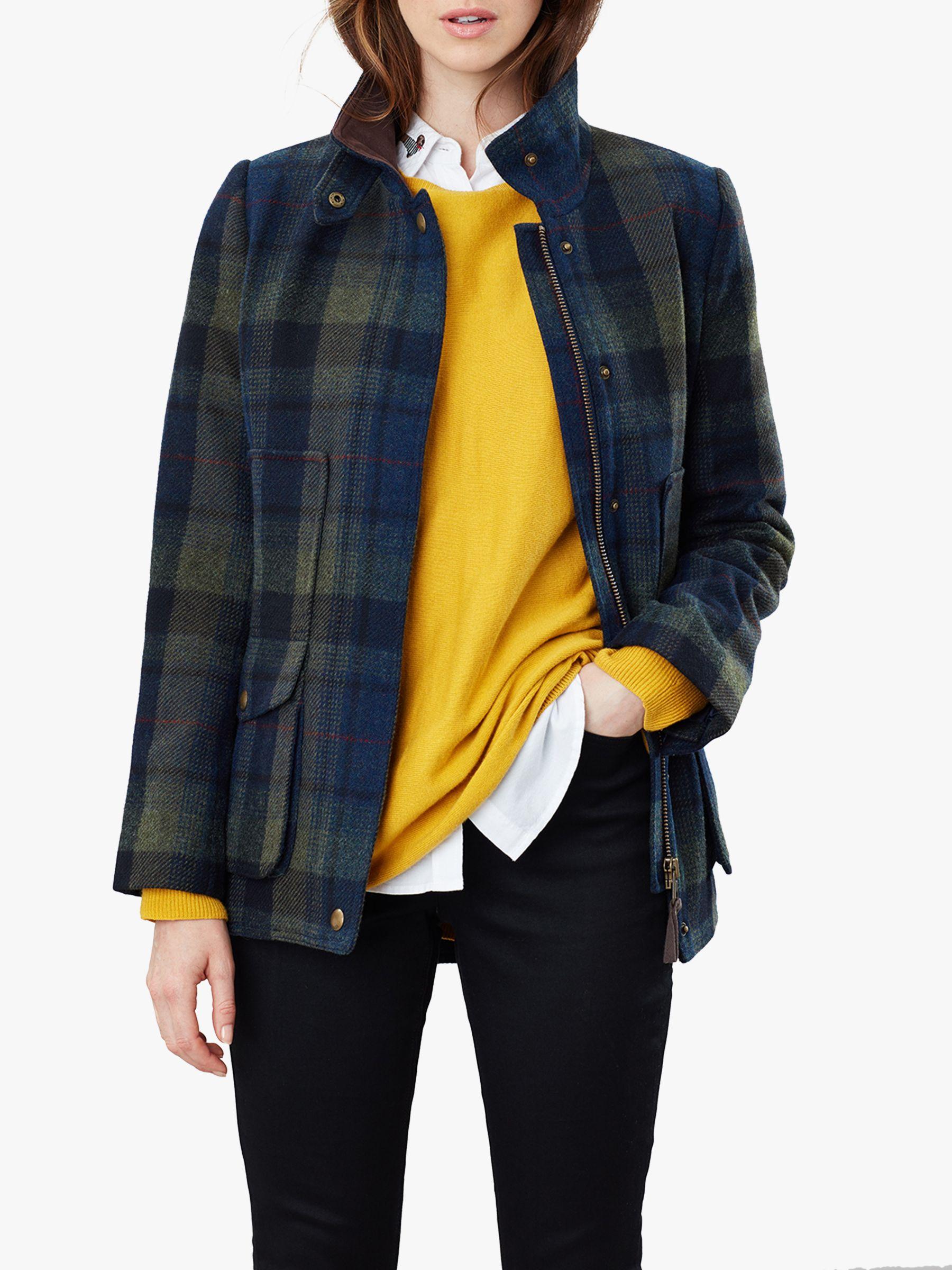 Joules Joules Fieldcoat Tweed Jacket, Blue/Green