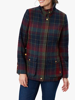 Joules Fieldcoat Tweed Jacket, Red Tweed