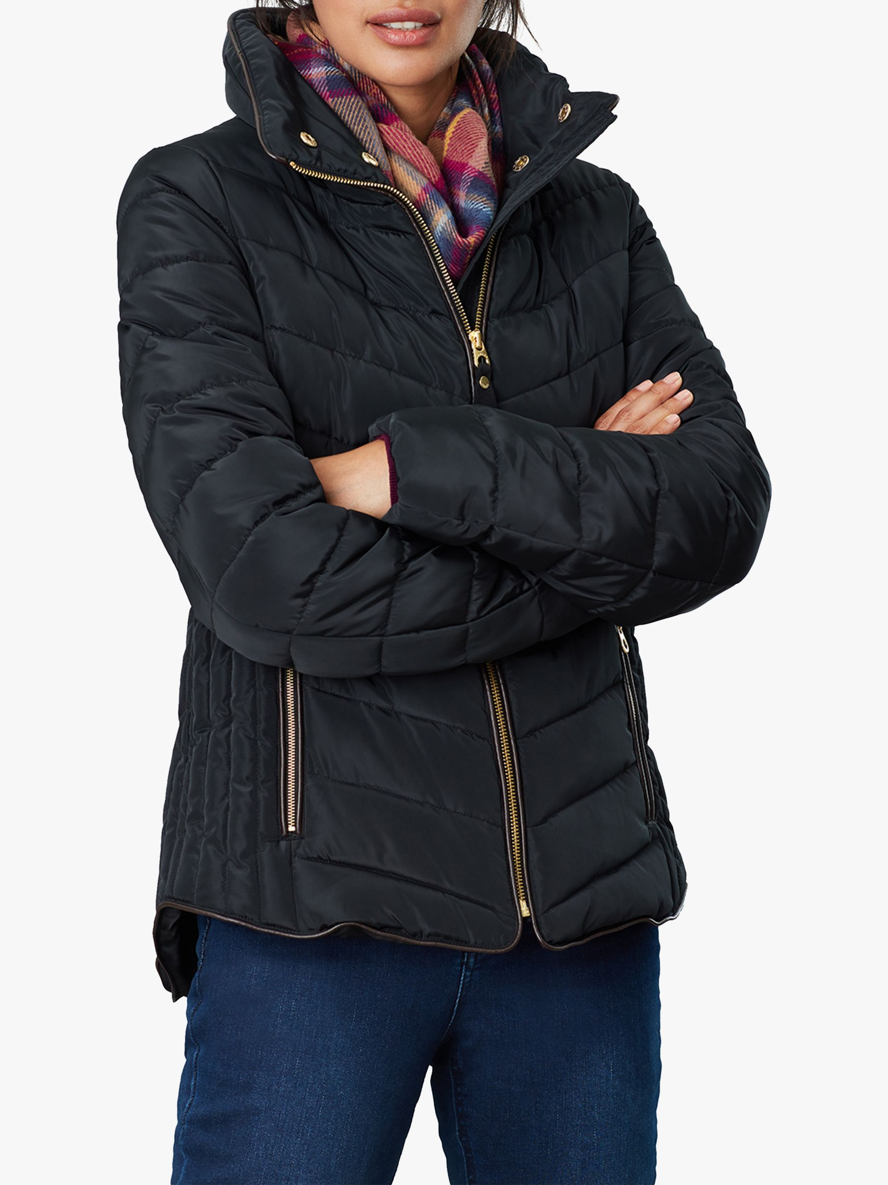 Joules Joules Gosway Chevron Padded Detachable Hood Jacket