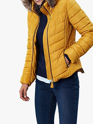 Joules Gosway Chevron Padded Detachable Hood Jacket