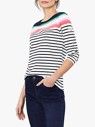 Joules Harbour Jersey Top, Navy/Multi/Stripe
