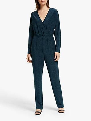 Y.A.S Yasbey Shimmer Jumpsuit, Evening Blue