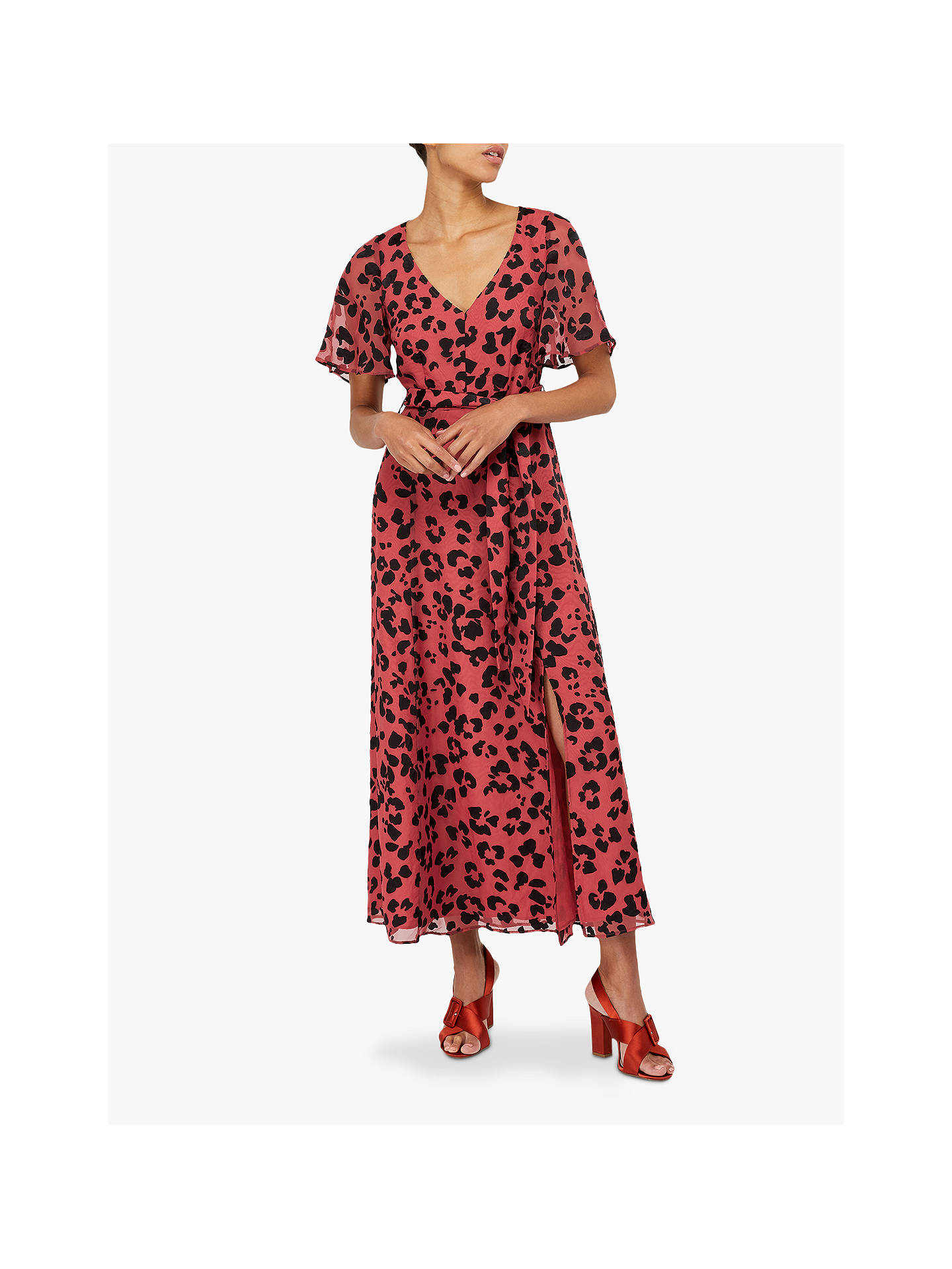 51f57657a Buy Monsoon Annie Animal Burnout Maxi Dress, Rust, 8 Online at  johnlewis.com ...