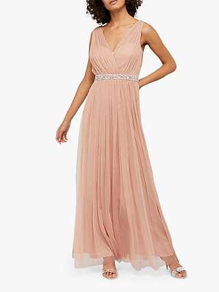 Monsoon Elyse Maxi Dress, Pink