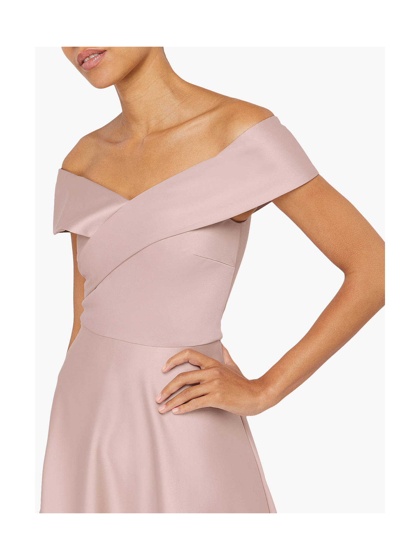 Buy Monsoon Signourney Satin Midi Dress, Blush, 6 Online at johnlewis.com