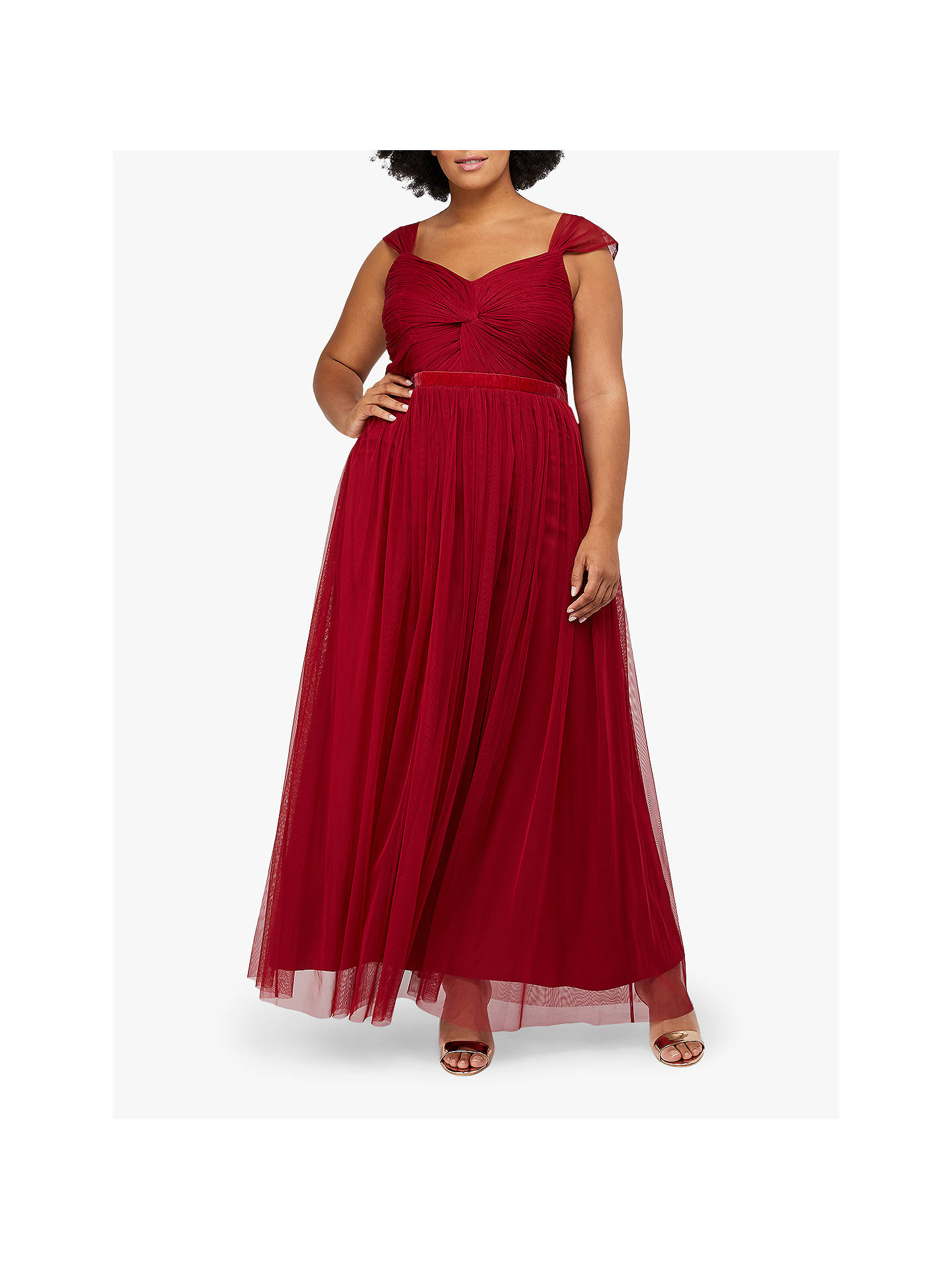 Buy Monsoon Jennifer Maxi Dress, Red, 6 Online at johnlewis.com