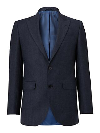 Hackett London Chelsea Textured Weave Tailored Suit Jacket, Navy
