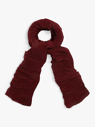 Phase Eight Liza Pleated Scarf, Cinnamon