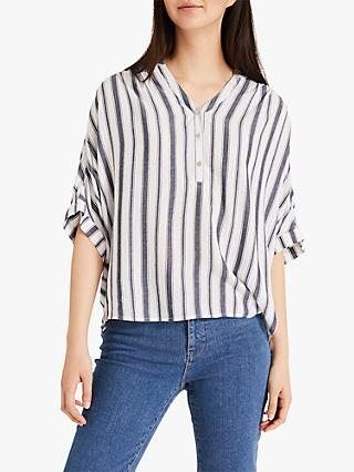 Phase Eight Laila Stripe Blouse, Blue/White