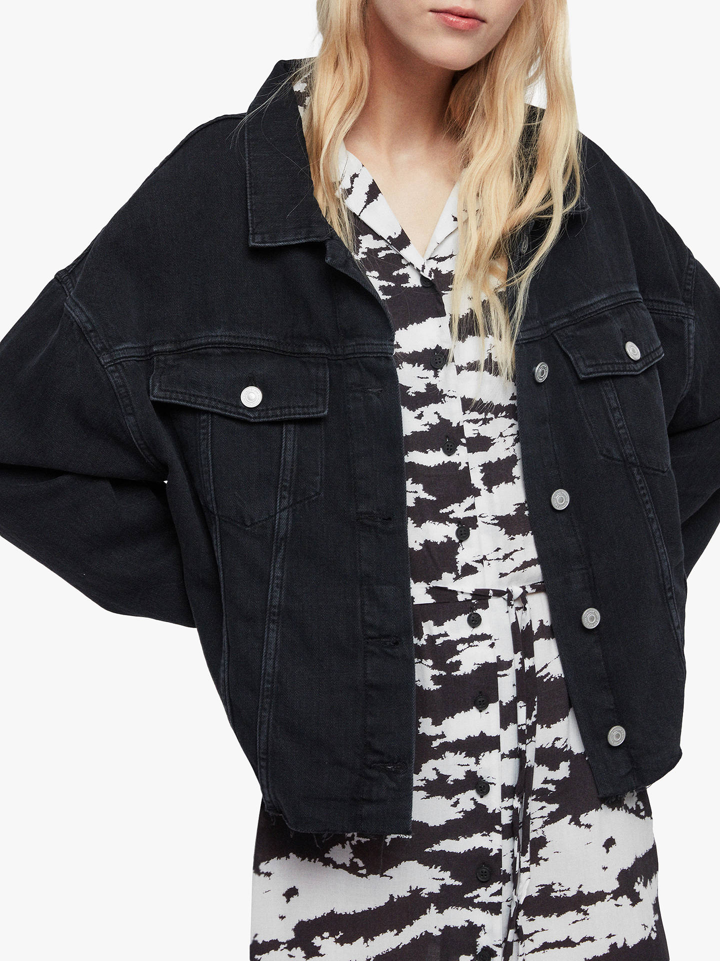Denim Jacket, Black at John Lewis