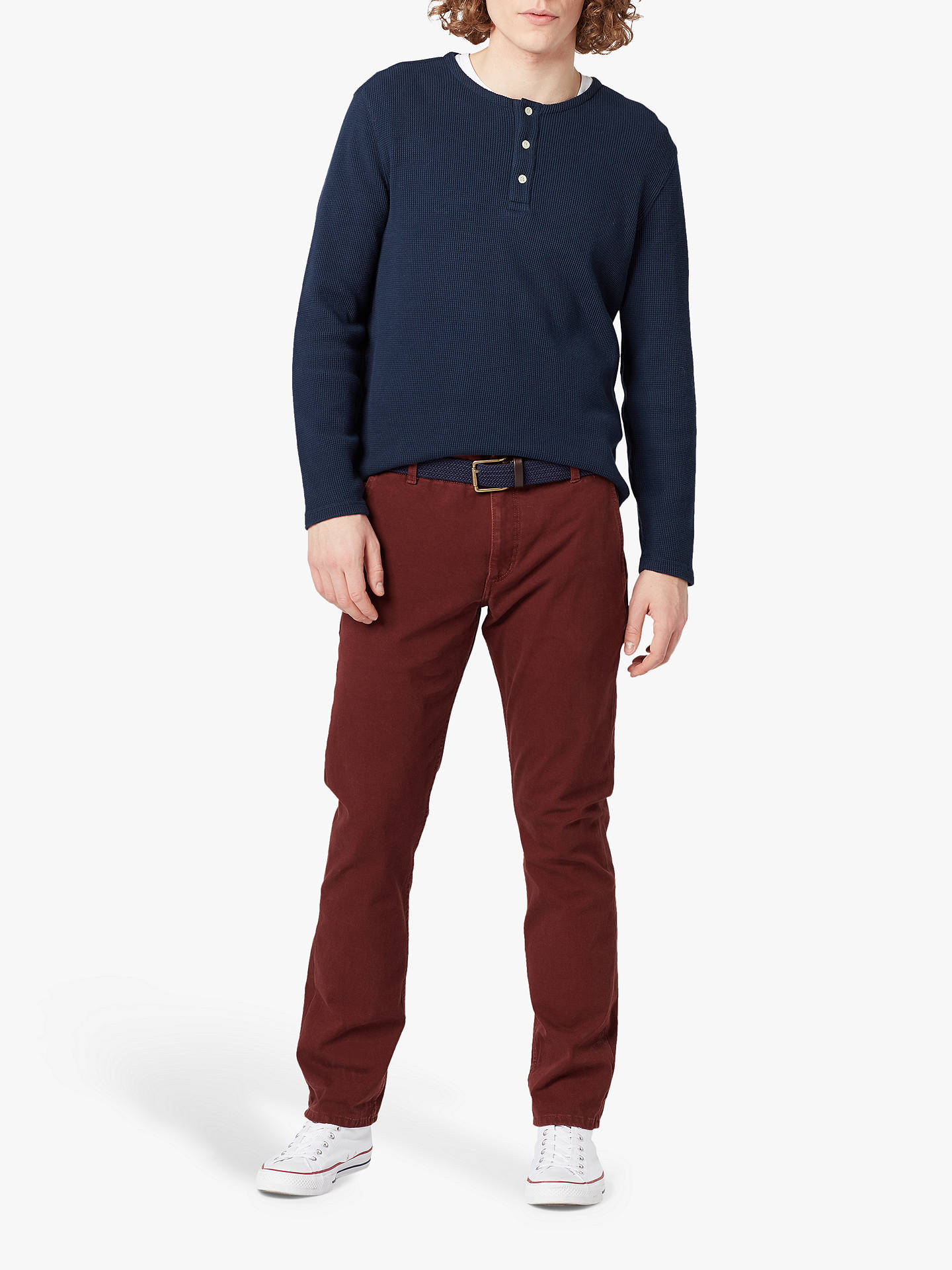 Buy Dockers Alpha Khaki Smart 360 Flex Slim Tapered Trousers, Chesnut Red, 34S Online at johnlewis.com
