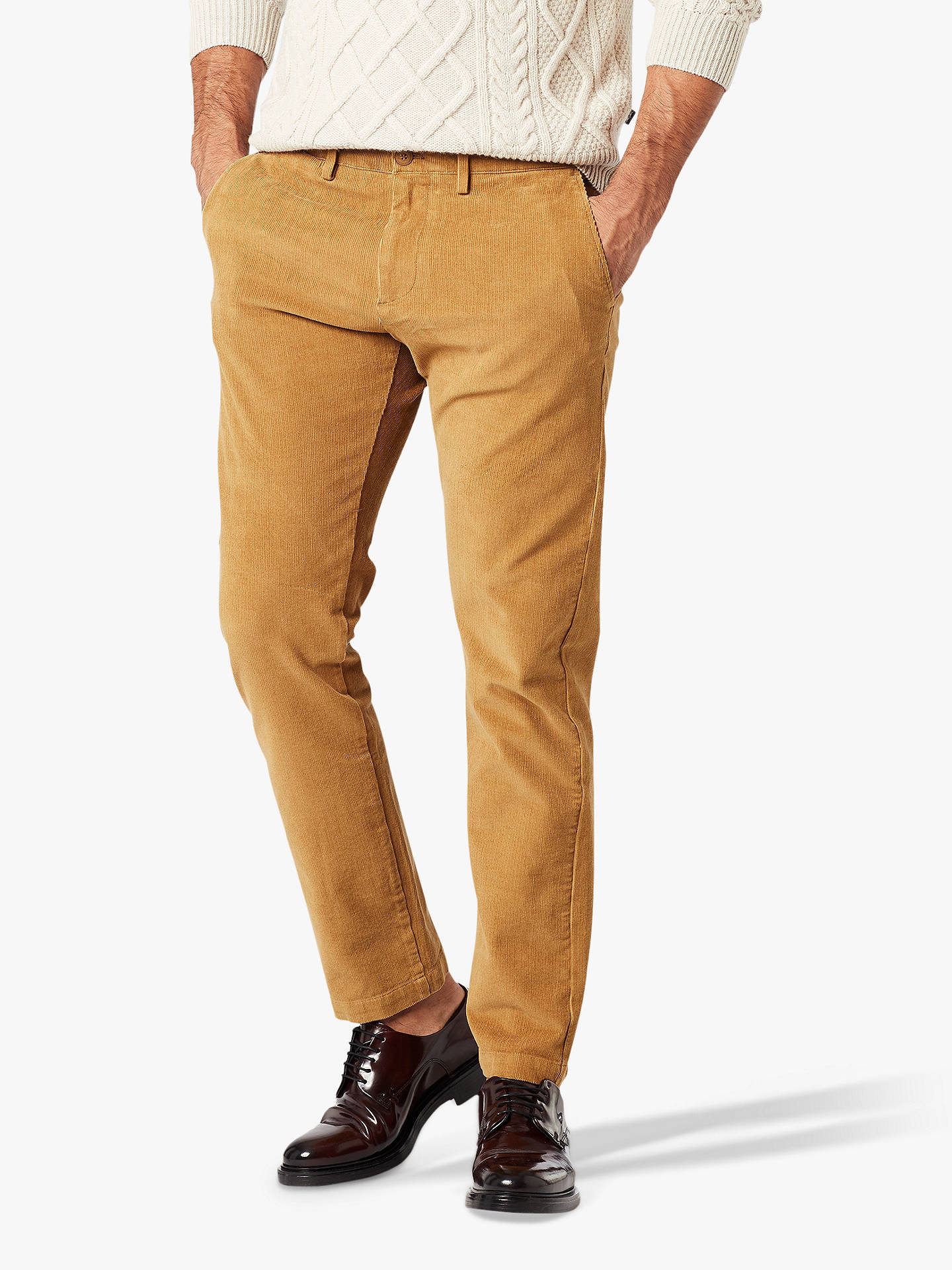 Buy Dockers Smart 360 Flex Slim Corduroy Chinos, Dull Gold, 36L Online at johnlewis.com
