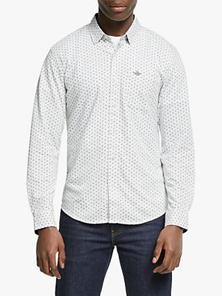 Dockers 360 Button Up Anchor Print Slim Fit Shirt