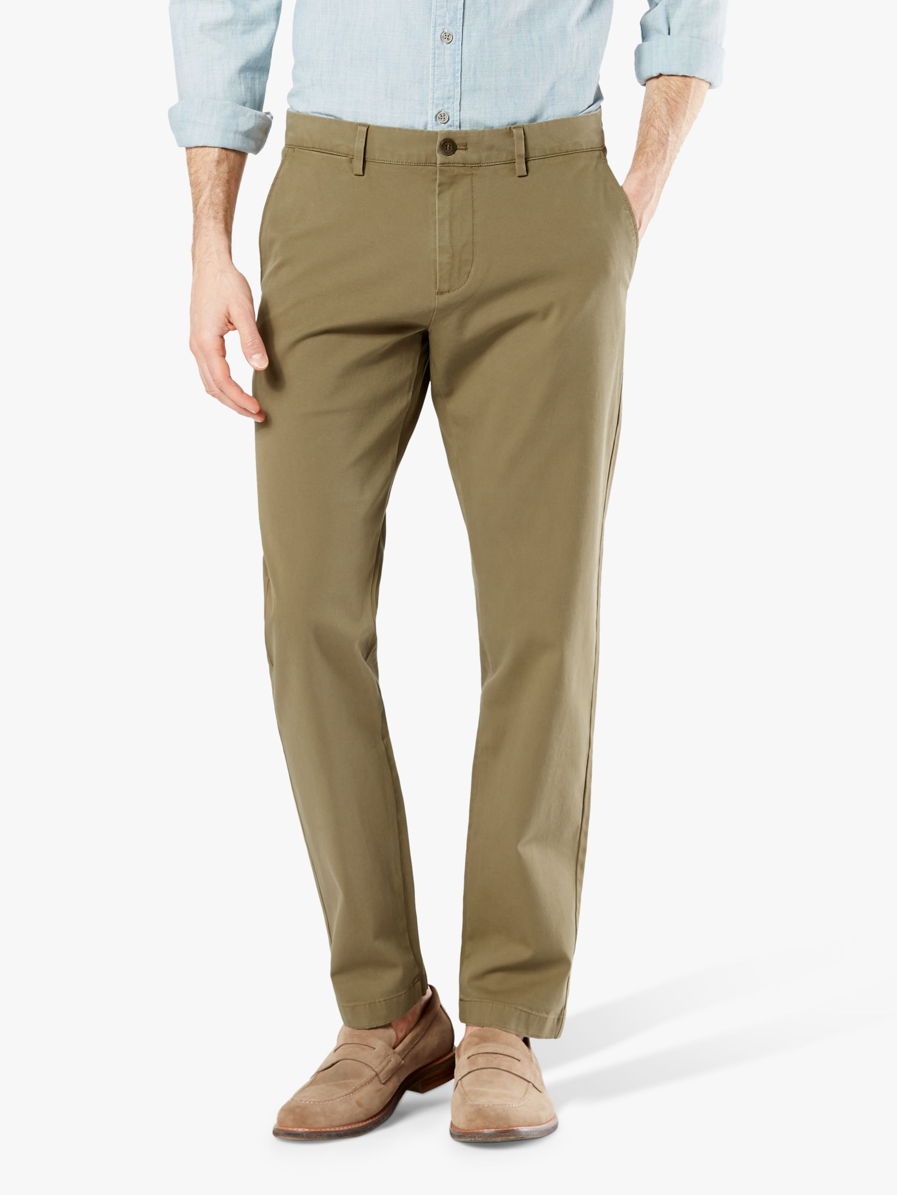 Dockers Mens Slim Fit Trouser with Stretch Waistband Business Casual Pants