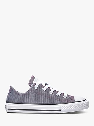 Converse Children's Chuck Taylor All Star Space Ox Trainers, Pure Platinum/Silver