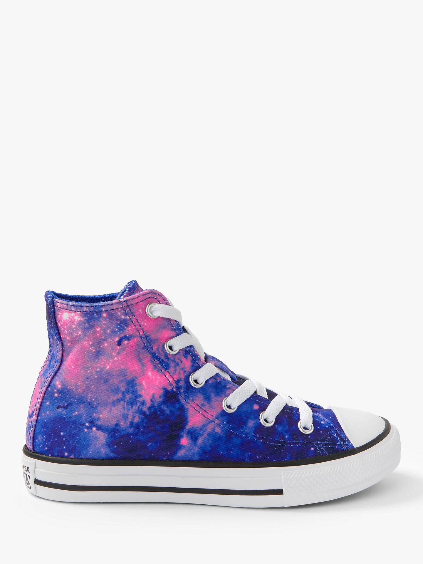 a05cbf20942dc Converse Children's All Star Miss Galaxy Hi-Top Trainers, Purple/Pink