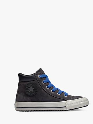Converse Children's Chuck Taylor All Star Boots On Mars Hi-Top Trainers, Black/Blue
