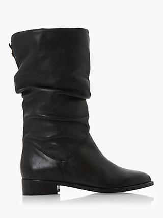 Dune Rosalinda Leather Calf Boots, Black