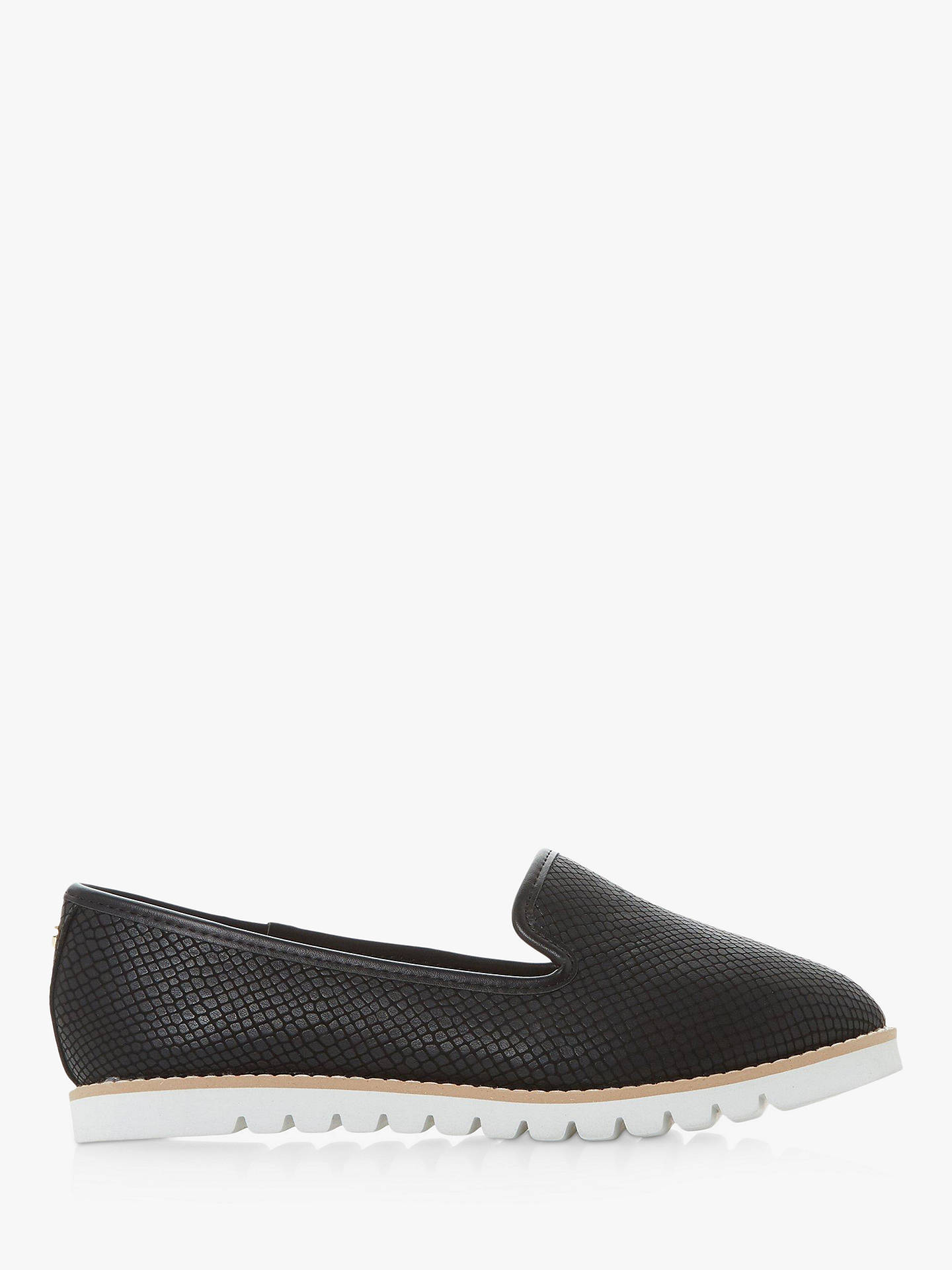 d00f7f55d Buy Dune Wide Fit Galleon Ridged Loafers, Black, 3 Online at johnlewis.com  ...
