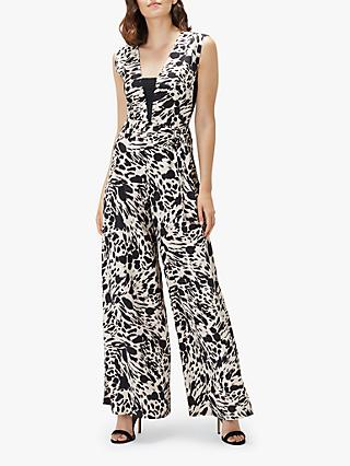 Coast Freida Animal Print Jumpsuit, Neutral