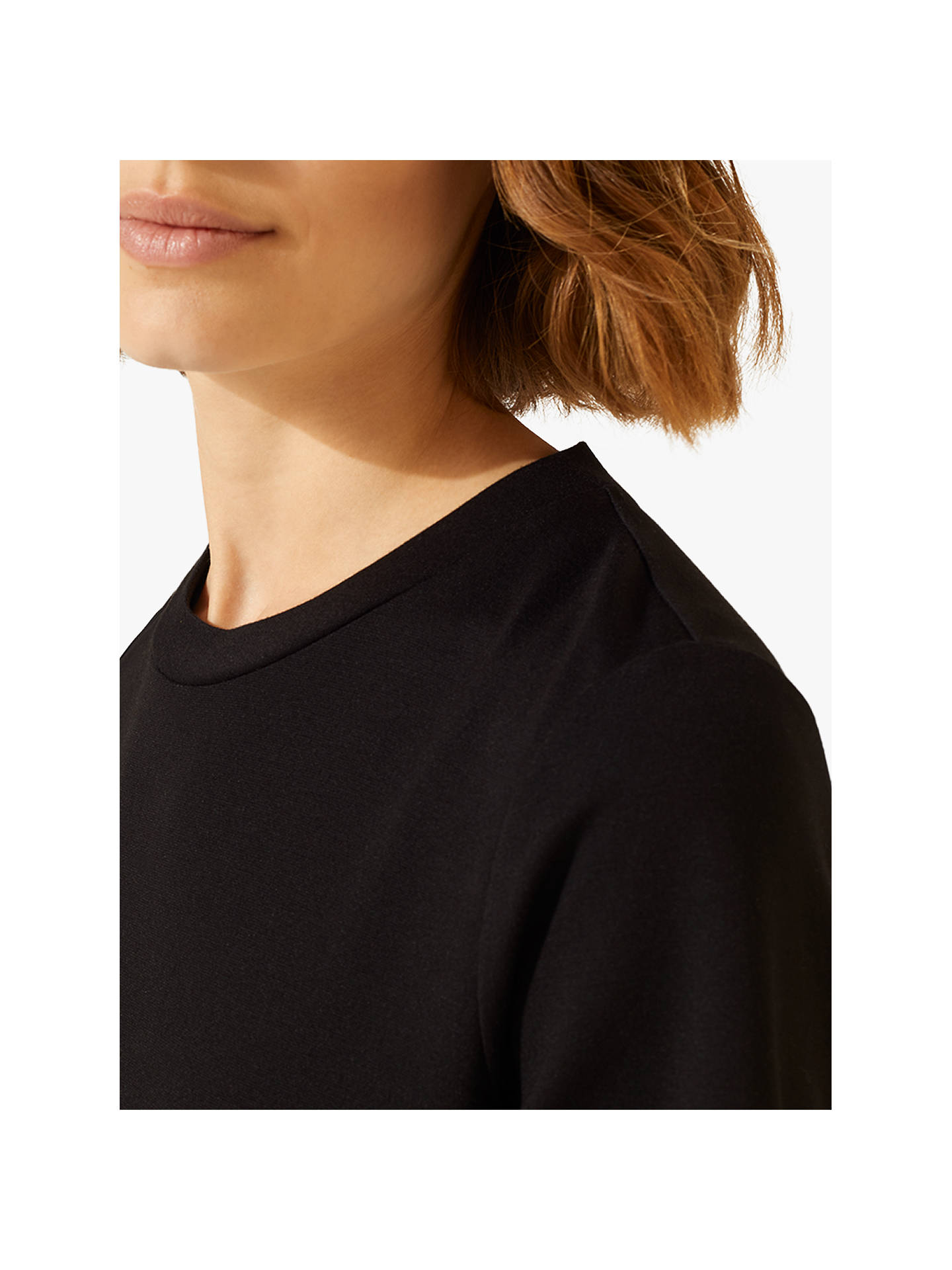 Jigsaw Long Sleeved Sports Luxe Top Womens New Black
