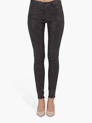 J Brand Maria High Rise Skinny Jeans, Coated Boa Grey
