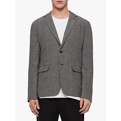 AllSaints Chiltern Slim Fit Blazer, Grey