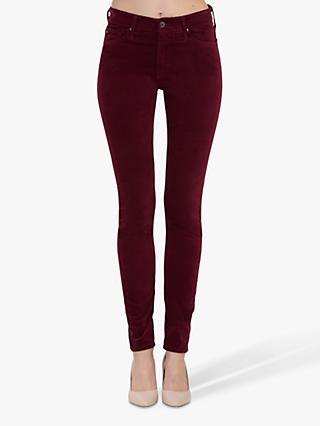 AG The Farrah High Rise Skinny Jeans, Gooseberry Burgundy