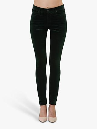 AG The Farrah High Rise Skinny Jeans, Dark Green