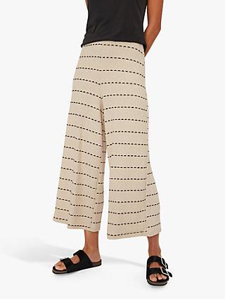 Warehouse Ribbed Culottes, Neutral