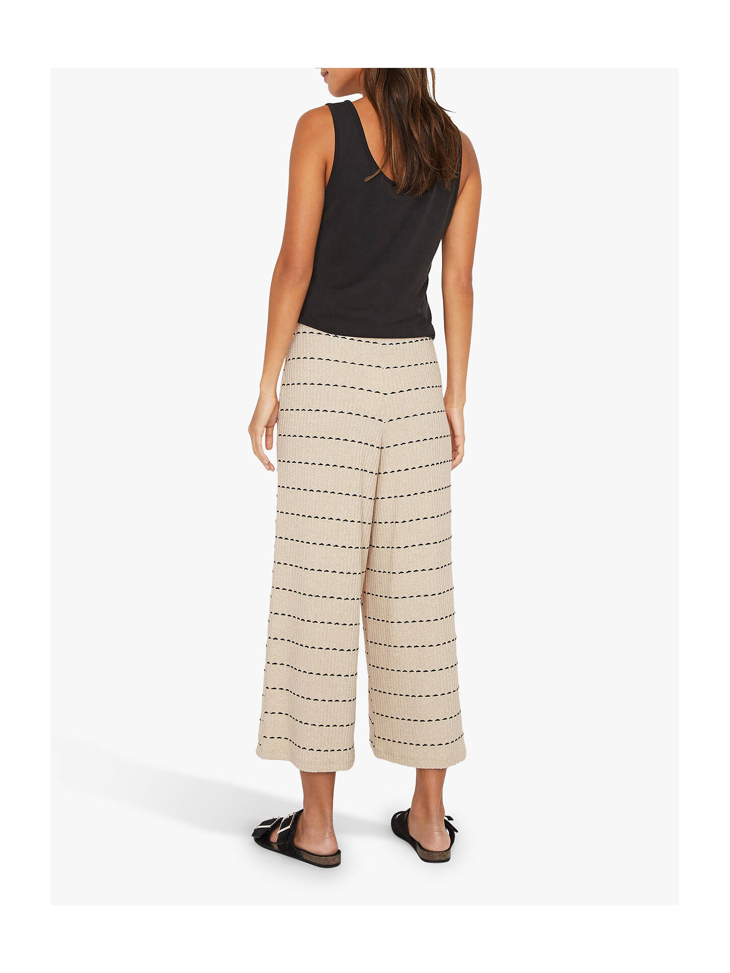 Buy Warehouse Ribbed Culottes, Neutral, 6 Online at johnlewis.com