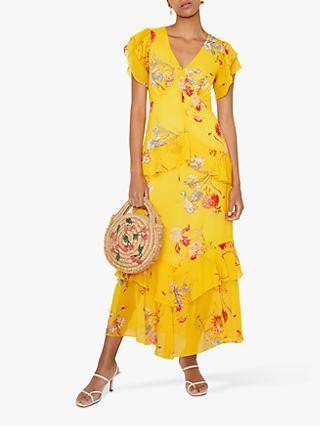Warehouse Floral Tiered Dress, Multi