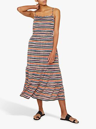 Warehouse Stripe Knit Maxi Dress, Multi