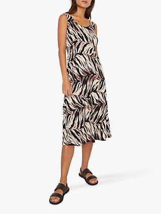 Warehouse Abstract Midi Dress, Animal