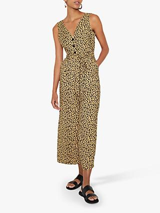 Warehouse Leopard Print Culotte Jumpsuit, Multi