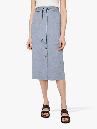 Warehouse Chambray Skirt, Light Blue