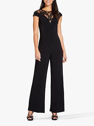 Adrianna Papell Jersey Sequin Jumpsuit, Black