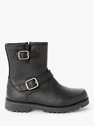 UGG Children's Harwell Leather Boots, Black