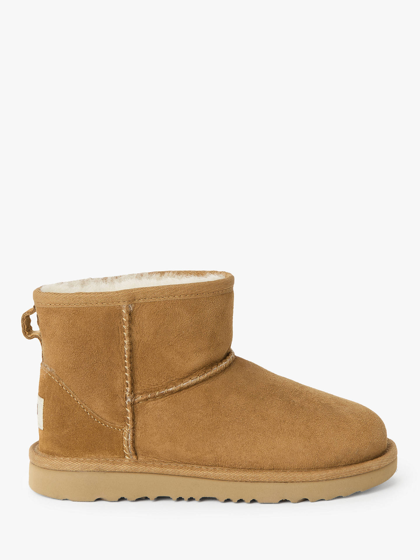 Buy UGG Children's Classic Mini II Sheepskin Boots, Chestnut, 12 Jnr Online at johnlewis.com