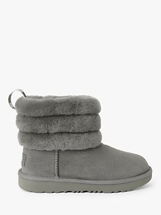 UGG Children's Fluff Mini Quilted Boots, Charcoal