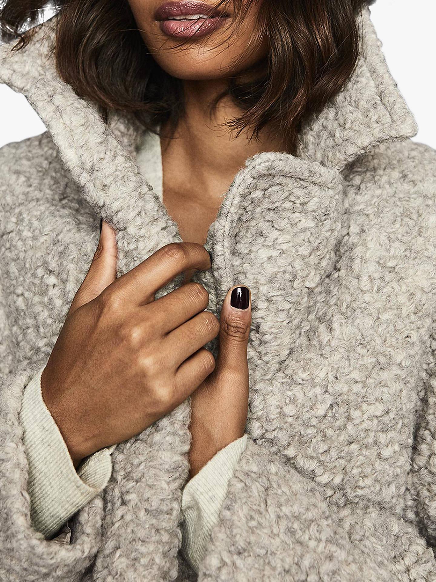 Reiss Scarlet Wool Blend Teddy Coat