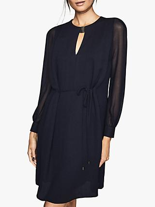 Reiss Leah Metal Trim Keyhole Front Dress