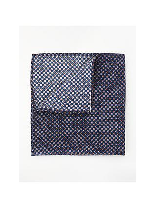 John Lewis & Partners Wool Dot Pocket Square, Navy